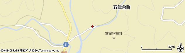 京都府綾部市五津合町(寺内)周辺の地図