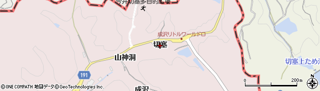 愛知県犬山市今井(切塞)周辺の地図