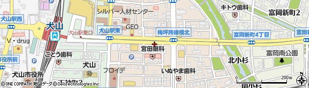 愛知県犬山市松本町周辺の地図