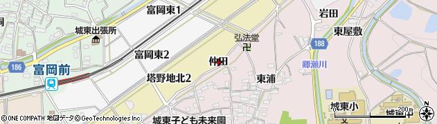 愛知県犬山市塔野地(仲田)周辺の地図