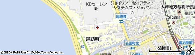 滋賀県長浜市鐘紡町周辺の地図
