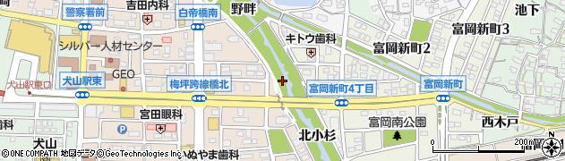 愛知県犬山市犬山(神子森)周辺の地図