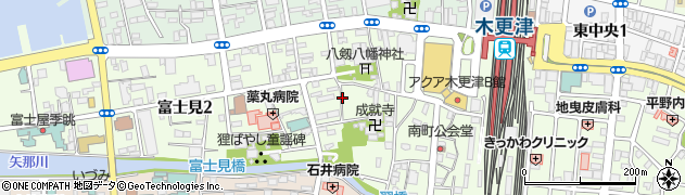 千葉県木更津市富士見周辺の地図