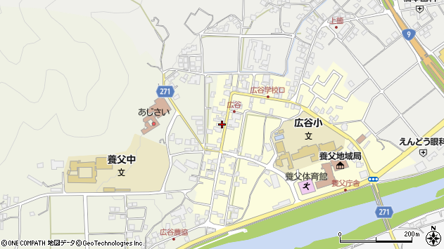 〒667-0101 兵庫県養父市広谷の地図