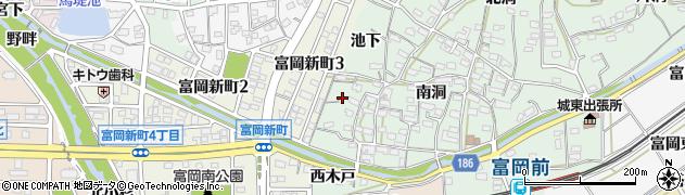 愛知県犬山市富岡(池下)周辺の地図