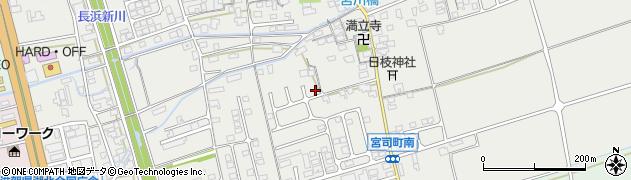 滋賀県長浜市宮司町周辺の地図