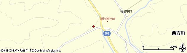 京都府綾部市西方町(古路)周辺の地図