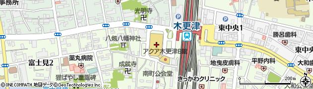 千葉県木更津市周辺の地図