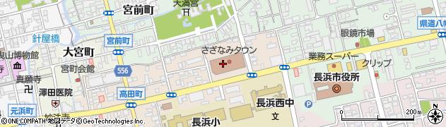 滋賀県長浜市高田町周辺の地図