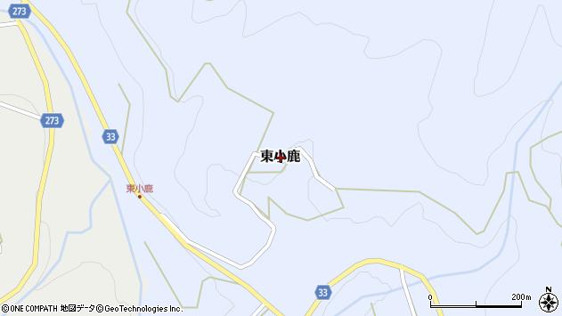 〒682-0143 鳥取県東伯郡三朝町東小鹿の地図