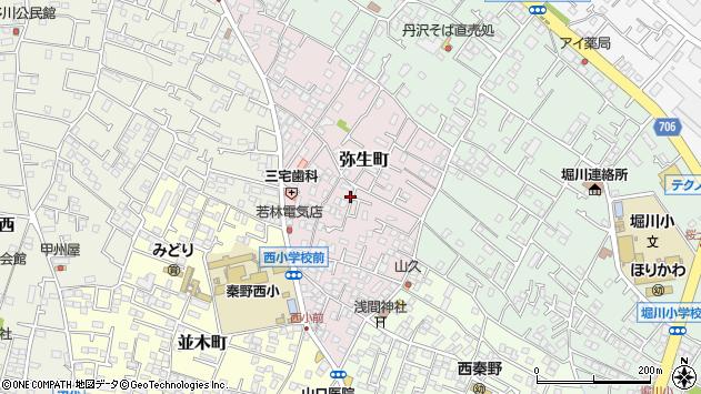 〒259-1311 神奈川県秦野市弥生町の地図