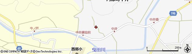 鳥取県鳥取市河原町中井周辺の地図