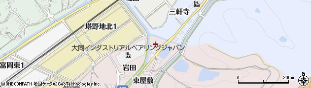 愛知県犬山市塔野地(横松)周辺の地図