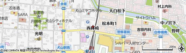 愛知県犬山市犬山(西林崎)周辺の地図