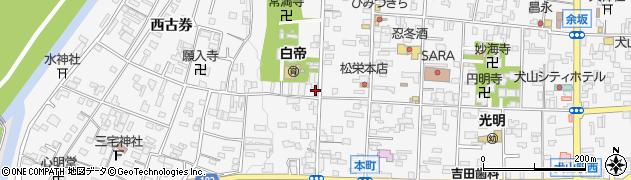 香楽周辺の地図