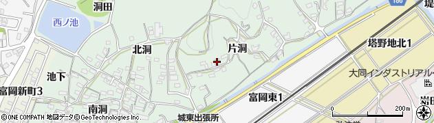 愛知県犬山市富岡(片洞)周辺の地図
