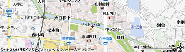 愛知県犬山市犬山(一本杉)周辺の地図