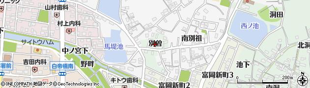 愛知県犬山市富岡(別曽)周辺の地図