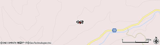 鳥取県三朝町(東伯郡)中津周辺の地図