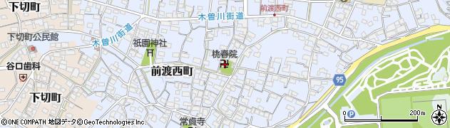 桃春院周辺の地図