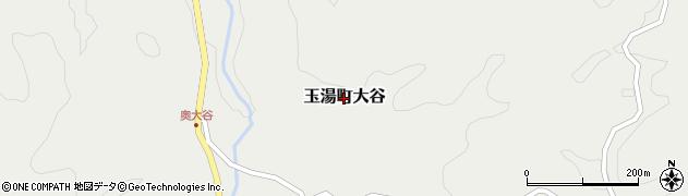 島根県松江市玉湯町大谷周辺の地図