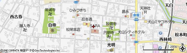 愛知県犬山市犬山周辺の地図