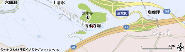 愛知県犬山市善師野(清水寺洞)周辺の地図