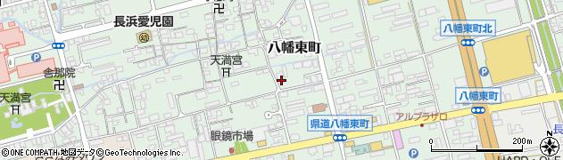 滋賀県長浜市八幡東町周辺の地図
