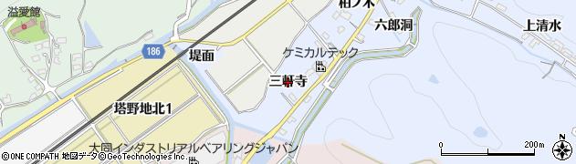 愛知県犬山市善師野(三軒寺)周辺の地図
