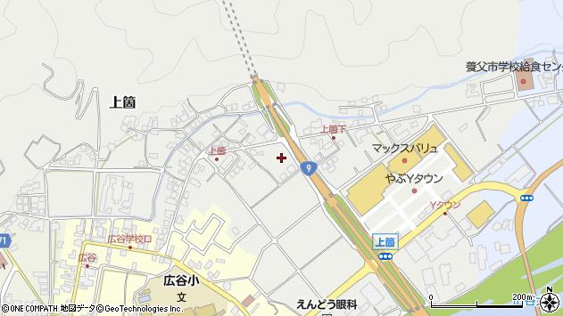 〒667-0115 兵庫県養父市上箇の地図