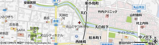 愛知県犬山市犬山(天白)周辺の地図