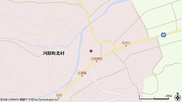 〒680-1234 鳥取県鳥取市河原町北村の地図