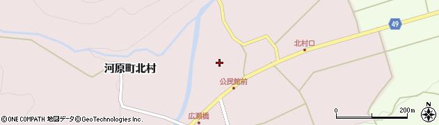 鳥取県鳥取市河原町北村周辺の地図