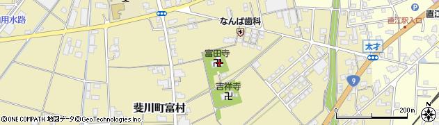 富田寺周辺の地図