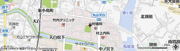愛知県犬山市丸山天白町周辺の地図