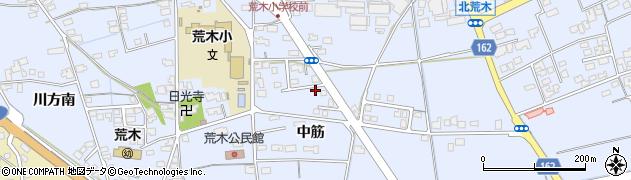 島根県出雲市大社町北荒木(中筋)周辺の地図