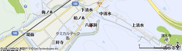 愛知県犬山市善師野(六郎洞)周辺の地図