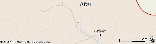 京都府綾部市八代町(谷)周辺の地図