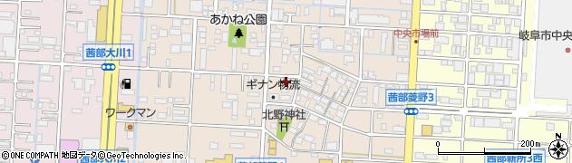 岐阜県岐阜市茜部菱野3丁目周辺の地図