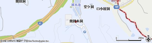 愛知県犬山市善師野(奥雑木洞)周辺の地図