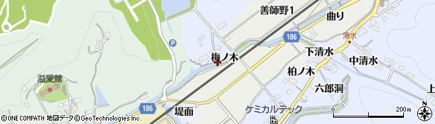 愛知県犬山市善師野(梅ノ木)周辺の地図