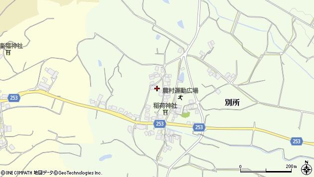 〒683-0254 鳥取県米子市別所の地図