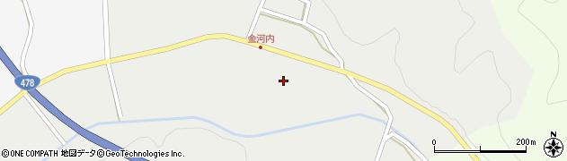 京都府綾部市金河内町(中坪)周辺の地図