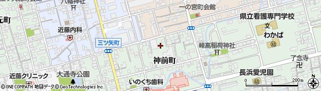 滋賀県長浜市神前町周辺の地図
