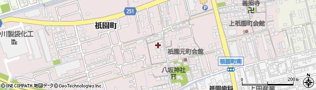滋賀県長浜市祇園町周辺の地図