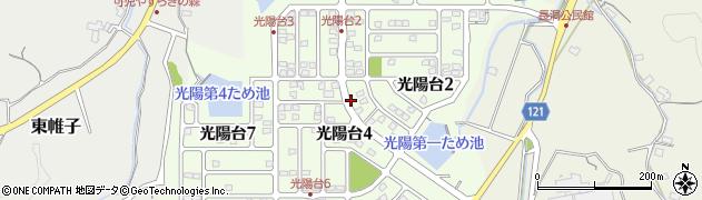 岐阜県可児市光陽台周辺の地図