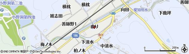 愛知県犬山市善師野(曲り)周辺の地図