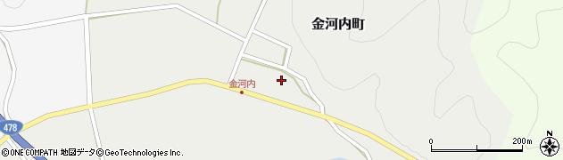 京都府綾部市金河内町(下地)周辺の地図