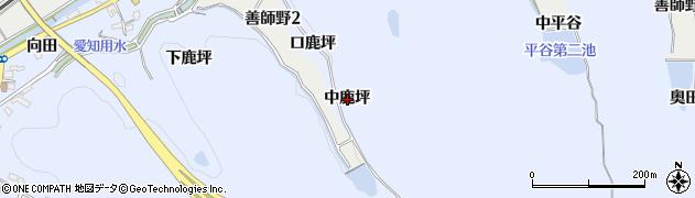 愛知県犬山市善師野(中鹿坪)周辺の地図