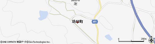 京都府綾部市坊口町周辺の地図